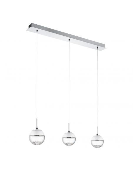 EGLO 93784 - MONTEFIO 1 Lámpara colgante LED en Acero cromo y Vidrio, cristal