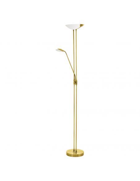 EGLO 93877 - BAYA LED Lámpara de pie LED en Acero latón y Vidrio, plástico