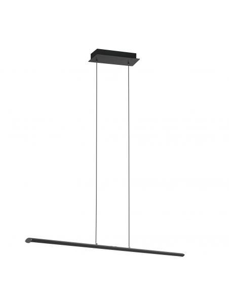 EGLO 93896 - PELLARO Lámpara colgante LED en Aluminio, acero negro-mate y Acrílico