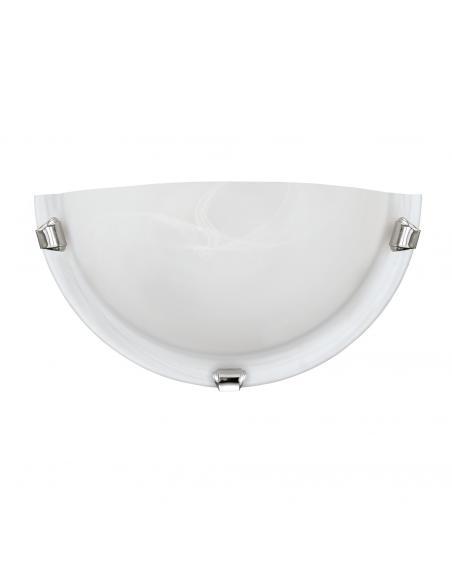 EGLO 7188 - SALOME Lámpara de Salón en Acero cromo y Vidrio alabastro