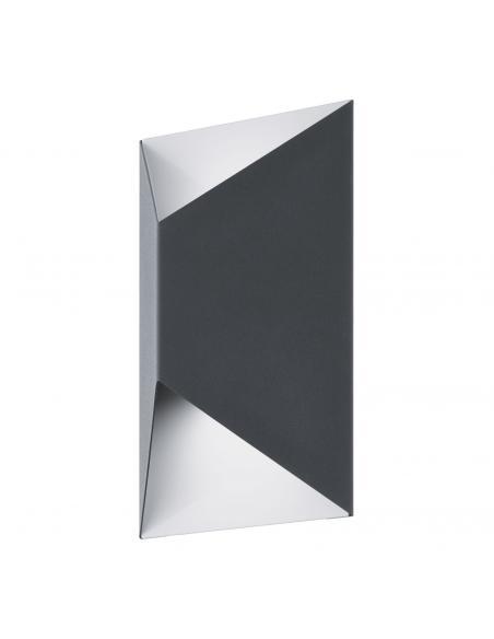 EGLO 93994 - PREDAZZO Aplique de exterior LED en Acero galvanizado antracita, blanco