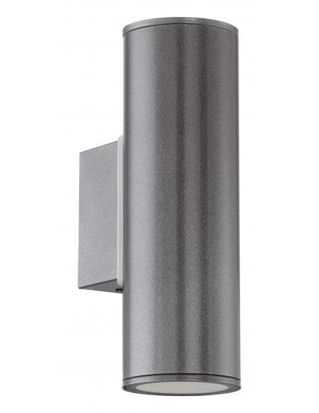 EGLO 94103 - RIGA Aplique de exterior LED en Acero galvanizado antracita
