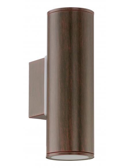 EGLO 94105 - RIGA Aplique de exterior LED en Acero galvanizado marrón antiguo