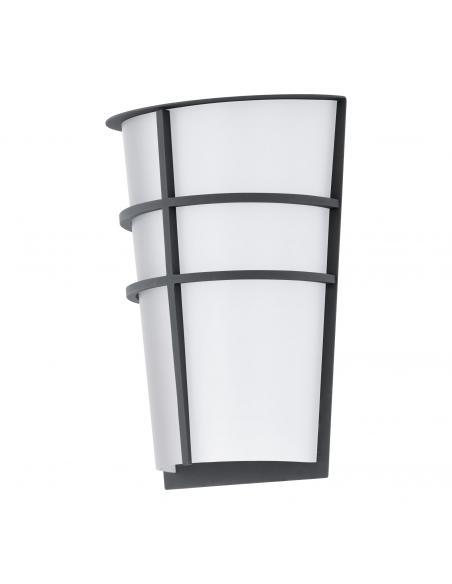 EGLO 94138 - BREGANZO Aplique de exterior LED en Acero galvanizado antracita y Acrílico