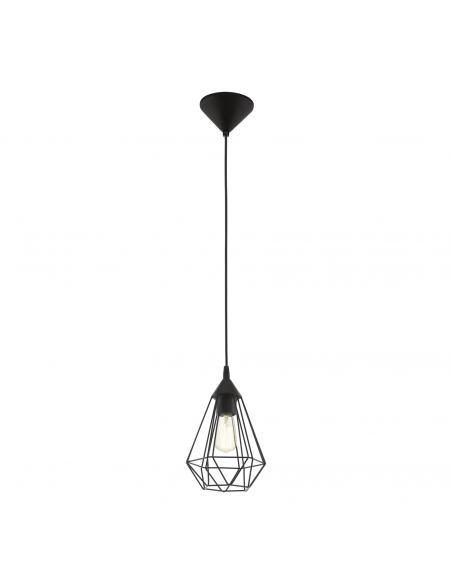 EGLO 94187 - TARBES Lámpara de Salón en Acrílico negro y Acero