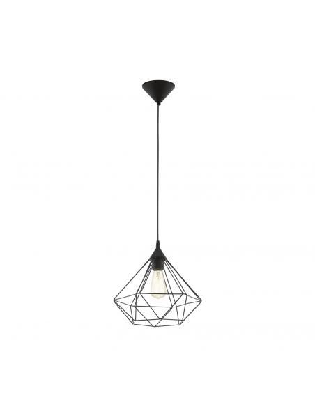 EGLO 94188 - TARBES Lámpara de Salón en Acrílico negro y Acero