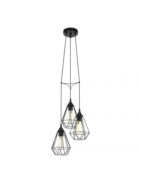 EGLO 94191 - TARBES Lámpara de Salón en Acero negro y Acero
