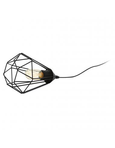 EGLO 94192 - TARBES Lámpara de Salón en Acero negro y Acero
