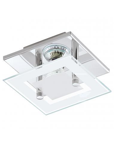 EGLO 94224 - ALMANA Plafón LED en Acero cromo y Vidrio satinado