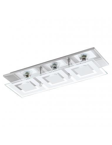 EGLO 94225 - ALMANA Plafón LED en Acero cromo y Vidrio satinado