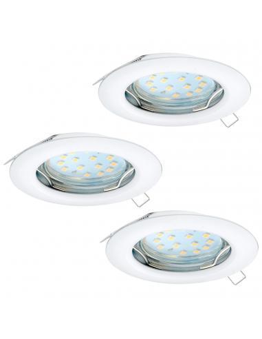 EGLO 94235 - PENETO Lámpara Empotrable LED en Acero blanco