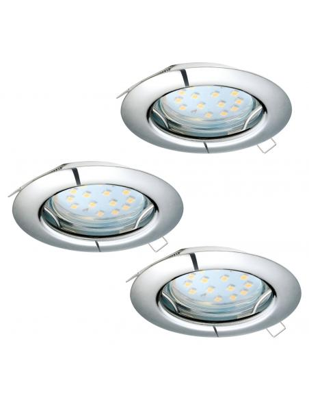 EGLO 94236 - PENETO Lámpara Empotrable LED en Acero cromo