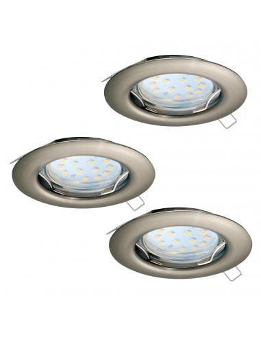 EGLO 94237 - PENETO Lámpara Empotrable LED en Acero níquel-mate