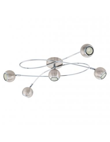 EGLO 94251 - LOCANDA Plafón LED en Acero níquel-mate, cromo