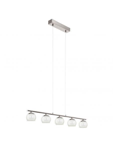 EGLO 94319 - ASCOLESE Lámpara colgante LED en Acero níquel-mate y Vidrio, vidrio satinado