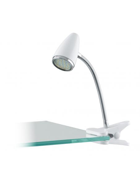 EGLO 94329 - RICCIO 1 Lámpara de Pinza LED en Acrílico, acero blanco, cromo y Acero