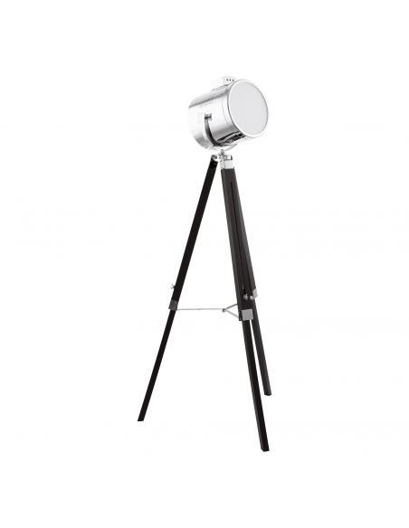 EGLO 94368 - UPSTREET Lámpara de Salón en Madera, acero negro y Acero