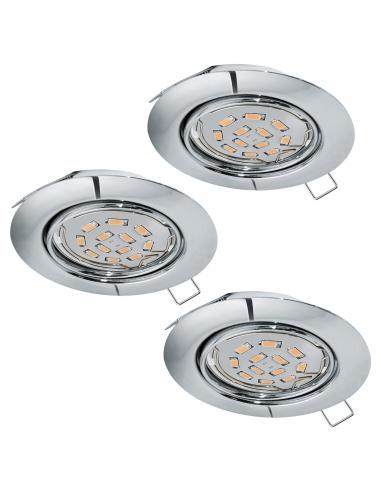 EGLO 94407 - PENETO Lámpara Empotrable LED en Acero cromo