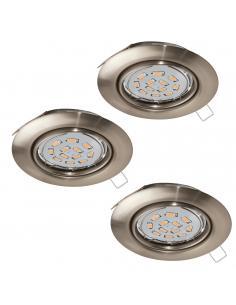 EGLO 94408 - PENETO Lámpara Empotrable LED en Acero níquel-mate