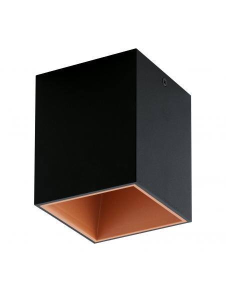 EGLO 94496 - POLASSO Plafón LED en Aluminio, plástico negro, cobre