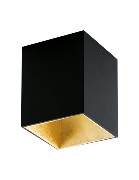 EGLO 94497 - POLASSO Plafón LED en Aluminio, plástico negro, oro