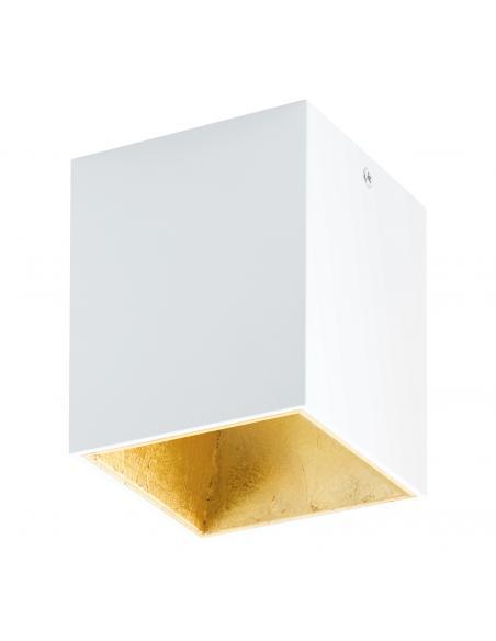 EGLO 94498 - POLASSO Plafón LED en Aluminio, plástico blanco, oro