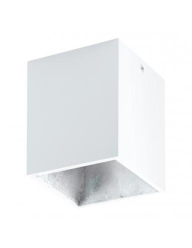 EGLO 94499 - POLASSO Plafón LED en Aluminio, plástico blanco, plata