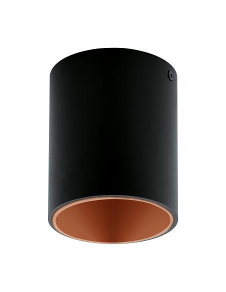 EGLO 94501 - POLASSO Plafón LED en Aluminio, plástico negro, cobre