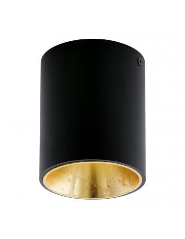 EGLO 94502 - POLASSO Plafón LED en Aluminio, plástico negro, oro