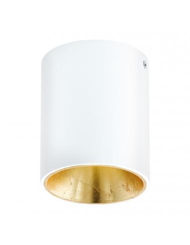 EGLO 94503 - POLASSO Plafón LED en Aluminio, plástico blanco, oro