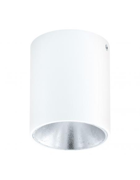 EGLO 94504 - POLASSO Plafón LED en Aluminio, plástico blanco, plata