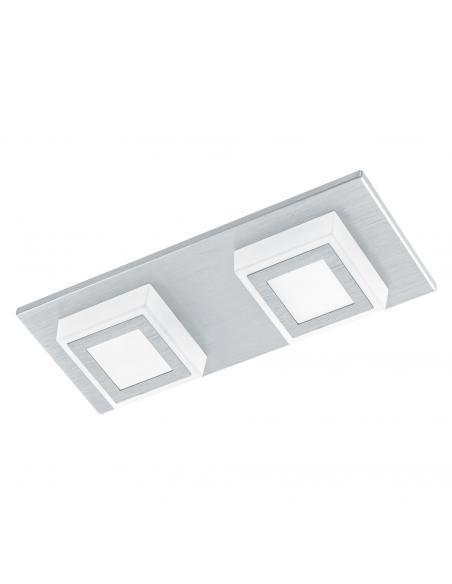 EGLO 94506 - MASIANO Plafón LED en Aluminio aluminio cepillado y Acrílico