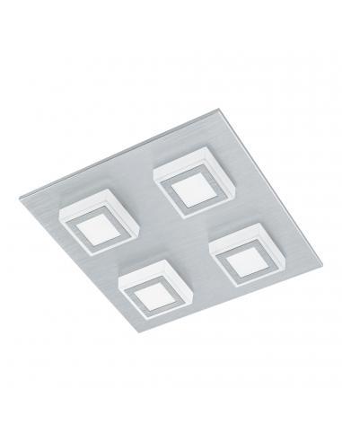 EGLO 94508 - MASIANO Plafón LED en Aluminio aluminio cepillado y Acrílico