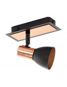 EGLO 94584 - BARNHAM Lámpara de Salón en Acero negro, cobre