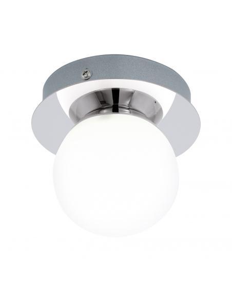 EGLO 94626 - MOSIANO Plafón LED en Acero inoxidable cromo y Vidrio opalino mate
