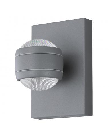 EGLO 94796 - SESIMBA Aplique de exterior LED en Acero galvanizado plata y Acrílico