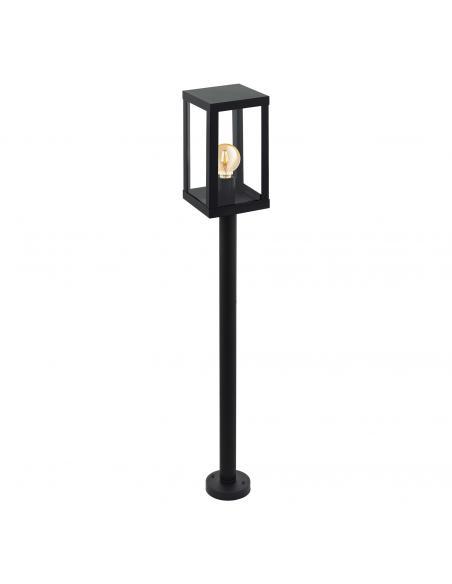 EGLO 94833 - ALAMONTE 1 Baliza en Acero galvanizado negro y Vidrio