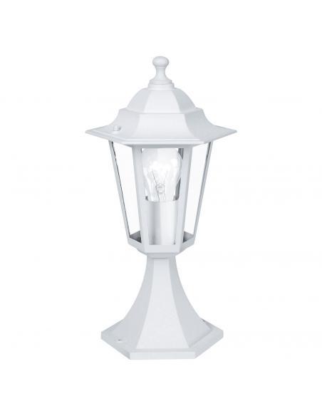 EGLO 22466 - LATERNA 5 Lámpara Sobremuro en Fundición de aluminio blanco y Vidrio