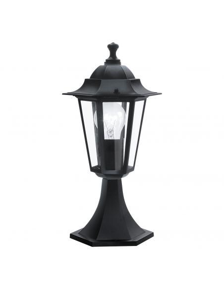 EGLO 22472 - LATERNA 4 Lámpara Sobremuro en Fundición de aluminio negro y Vidrio