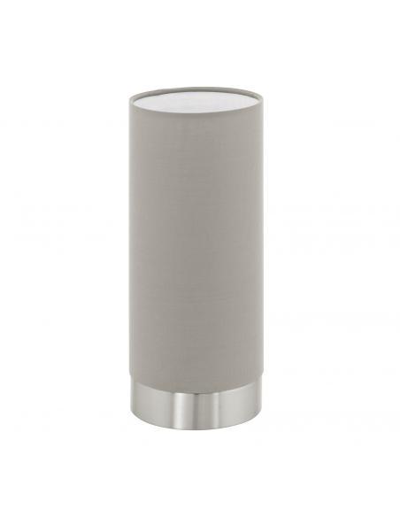 EGLO 95122 - PASTERI Lámpara de Tela en Acero níquel-mate y Textil