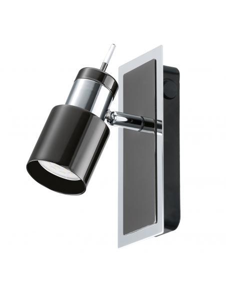 EGLO 30832 - DAVIDA 1 Lámpara de Salón en Acero nickel-negro