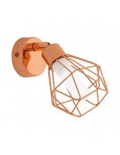 EGLO 95545 - ZAPATA Lámpara de Salón en Acero cobre y Vidrio satinado