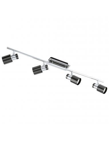 EGLO 30835 - DAVIDA 1 Lámpara de Salón en Acero nickel-negro