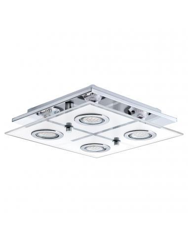 EGLO 30931 - CABO Plafón LED en Acero inoxidable cromo y Vidrio satinado