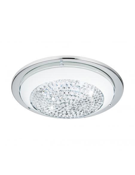 EGLO 95639 - ACOLLA Plafón LED en Acero cromo y Vidrio con cristales