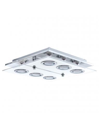 EGLO 30932 - CABO Plafón LED en Acero inoxidable cromo y Vidrio satinado