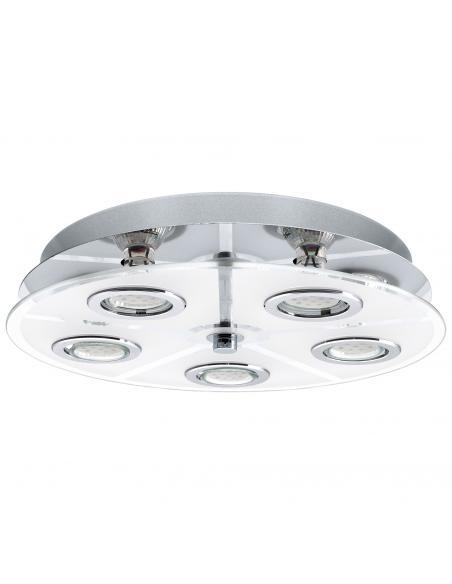 EGLO 30933 - CABO Plafón LED en Acero inoxidable cromo y Vidrio satinado