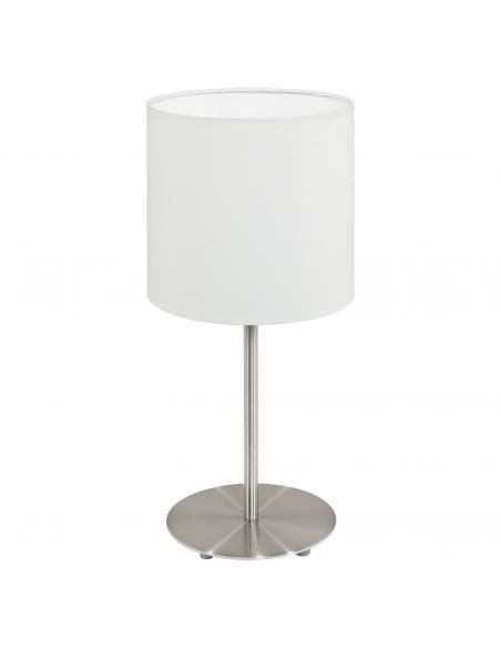 EGLO 95725 - PASTERI Lámpara de Tela en Acero níquel-mate y Textil
