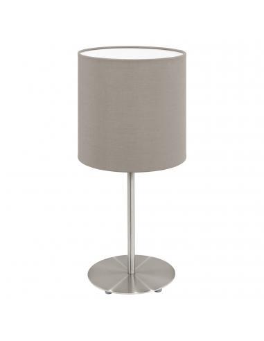 EGLO 95726 - PASTERI Lámpara de Tela en Acero níquel-mate y Textil