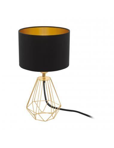 EGLO 95788 - CARLTON 2 Lámpara de Tela en Acero latón y Textil